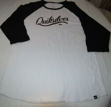 Men's Quiksilver T Shirt surf skate 3/4 Sleeve L Premium Fit  Sea Scroll Raglan