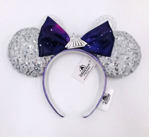 Purple Space Mountain Ears Shanghai Silver 2021 Minnie Mouse Disney Parks