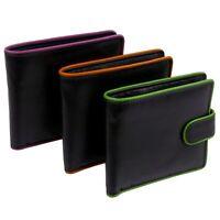 Golunski Leather Mens Tabbed Bi-Fold Wallet Coloured Highlights