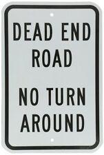 "SmartSign 3M Engineer Grade Reflective Sign, Legend ""Dead End Road No Turn Aroun"