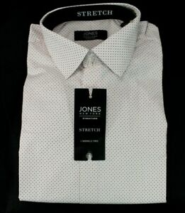 Jones New York Signature Stretch Long Sleeve Shirt M 15 1/2 34/35 Button Up NWT