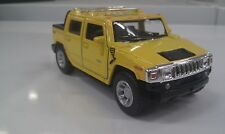 2005 Hummer H2 SUT yellow kinsmart TOYmodel 1/40 scale diecast Car present gift