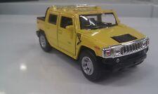 2005 Hummer H2 SUT GIALLO KINSMART GIOCATTOLO MODELLINO 1/40 SCALA pressofuso