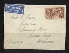 1935 Air cover GB to Australia 16 days SG 450 Rare toning