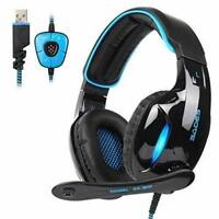 SA902 USB 7.1 Channel Virtual Stereo Surround Sound Gaming Headset, Over