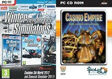 ski world 2012 & snowcat simulator 2011 & casino empire   new&sealed