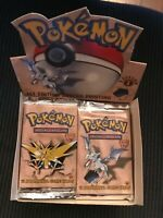 Pokemon Fossil 1st Edition Pack From Factory Sealed Box, UNWEIGHED, 1 Pack