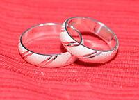 2 - Argent 925 Bagues de fiançailles Alliances couple