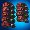 Leather Iron Headcovers Golf Club Head Covers for Mizuno Taylormade Cheveland HB