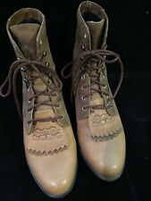 ARIAT COMPETITOR  Tan Leather Roper Western Lace Up Boots Women's 7 M