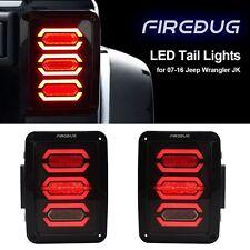 Diamond Tail Lights with Smoke LED Lens For 07-16 Jeep Wrangler Tail Light JK