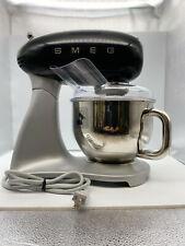 Smeg SMF01BLUS 50's Retro Style Aesthetic Stand Mixer (600 W Motor), Black