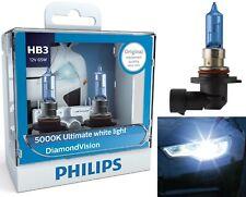 Philips Diamond Vision White 5000K 9005 HB3 65W Two Bulbs Head Light Replace ATV