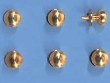 1:12 Scale Brass Door Knobs x 6  Dolls House and Miniature Accessory