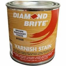 Diamond Brite Oil Varnish Stain Paint, Brown Mahogany 8 Oz. Pail 6/Case