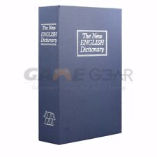 Blue Large Home Security Dictionary Book Safe Storage Key Lock Box