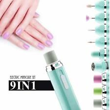 Electric Nail Drill-9 in 1 Nail File Kit Grinder Manicure Machine Battery