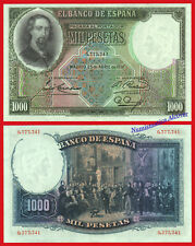 ESPAGNE Espagne 1000 Pesetas 1931 ZORRILLA Série 84A SC / UNC