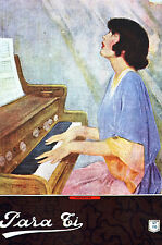 Para Ti Spanish Argentina Art Cover Girl PLAYING PIANO MUSIC 1920 Matted Print