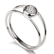 Set Ring 925 Sterling Silver 0.50Ct Forever Moissanite Diamond Engagement Bezel