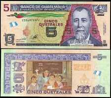 GUATEMALA 2014 NEW UNC 5 Quetzales Banknote Paper Money Bill P 2019