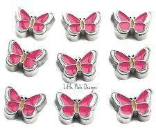 Mariposas Rosas Charm Flotante Para Living Memory Locket Collar Animal Charms