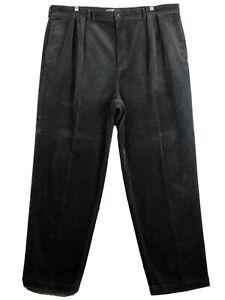Vintage Polo Ralph Lauren Andrew Pants Corduroy Cords Black Pleated Men's 46x32