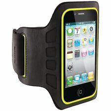 New Belkin Ease-Fit Armband for iPhone 4 4S SE Black Smartphone Exercise Jog J37
