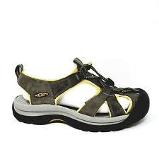 Keen Womens Venice Sandals Shoes Sz 7 Waterproof  Yellow Gray Suede EUC