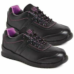 LADIES SAFETY LEATHER SHOES WORK TRAINERS WOMENS COMPOSITE TOE CAP BOOTS UK SIZE