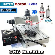 3 Axis 3040 Z-DQ 500W CNC Router Engraver Engraving Milling Cutting Machine 220V