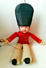 "Antique Celluloid Doll - Drum Major ""1939 Colorado Springs Banner"" 15"" tall"