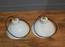 White Industrial Style Pendant Light - Wired & PAT Tested