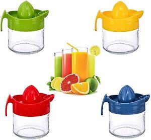 Glass Fruit Juicer Lemon Lime Orange Citrus Squeezer Hand Press Easy to Use