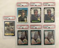 BARRY BONDS PSA 7x Lot. 1986 1987 FLEER DONRUSS. 8,7,6  RC.