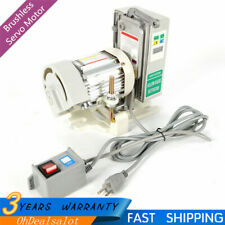 Adj-speed Brushless Servo Motor w/Clutch For Industrial Sewing Machine 4500Rpm