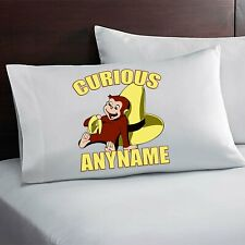 Curious George Personalized Custom Pillow Case Custom Made w. Your Name