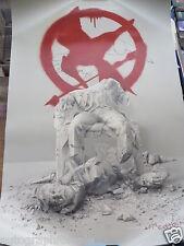 Natalie Dormer Evan Ross signed auto Hunger Games Mockingjay Part 2 movie poster