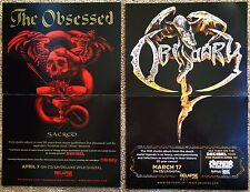 THE OBSESSED Sacred POSTER 2-Sided 11x17 KREATOR 2017 Tour
