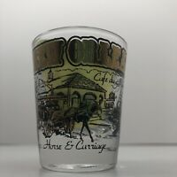 Vintage souvenir Embossed Gilded NEW ORLEANS Libbey Shot Glass Feature Landmarks