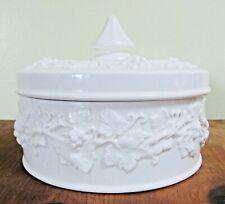 Wedgwood, White, Queensware, Round, Trinket Box, Covered Dish