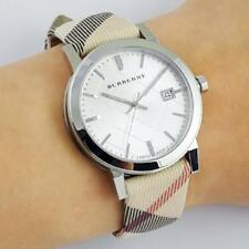 Burberry BU9022 The City Champagne Dial Haymarket Check Strap Unisex Watch