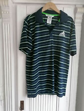 "•.★ adidas ★.• Shirt ""adipure"" Fitness - Sport - Golf etc. Blau/Grün - Gr.M"