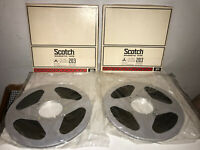 """2 SCOTCH 203 Professional Magnetic Tape Metal Reel 1/4"""" x 10.5"""" 3600 ft  SEALED"""