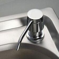 Steel Bottle Plastic Holder Dispenser Bathroom Kitchen Liquid Soap Sink Liquid