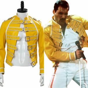 Queen Lead Vocals Freddie Mercury Cosplay Wembley On Stage Costume Jacket