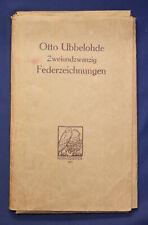 Otto Ubbelohde Zweiundzwanzig Federzeichnungen 1911 Kunst Kultur Grafik sf