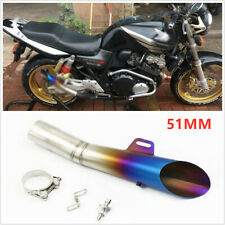 1* 355MM Motorcycle 51MM Stainless Steel Muffler Pipe DB-Killer Exhaust Part New