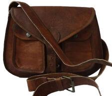 Genuine Leather Goat Saddle Bag Handmade Vintage Travel Women's Sling Crossbody