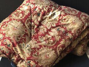 RARE! RALPH LAUREN Vintage QUEEN *JARDINIERE Sateen Comforter RED Paisley EUC!